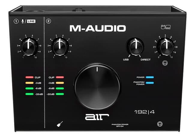 M-Audio AIR 192|4 (top panel)