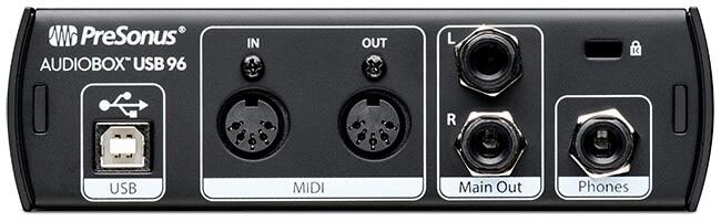 PreSonus AudioBox USB 96 (back panel)
