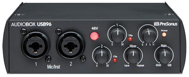 PreSonus AudioBox USB 96 (front panel)