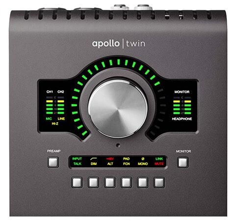 Universal Audio Apollo Twin MkII (top panel)