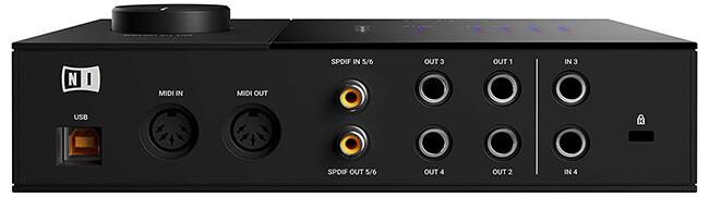 Komplete Audio 6 MkII (back panel)