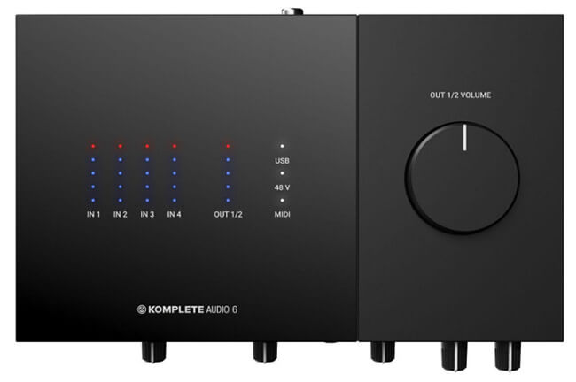 Komplete Audio 6 MkII (top panel)