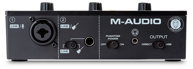 M-Audio M-Track Solo audio interface (front panel)