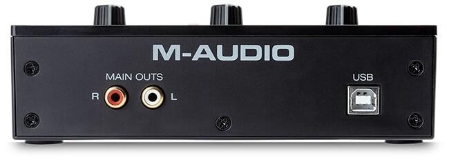 M-Audio M-Track Solo (back panel)