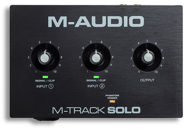 M-Audio M-Track Solo (top panel)