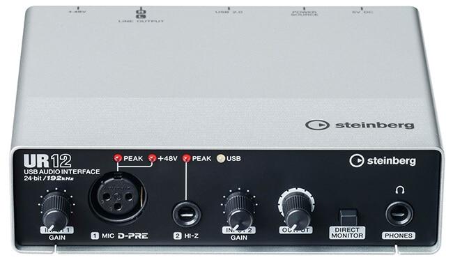 Steinberg UR12 audio interface (front panel)