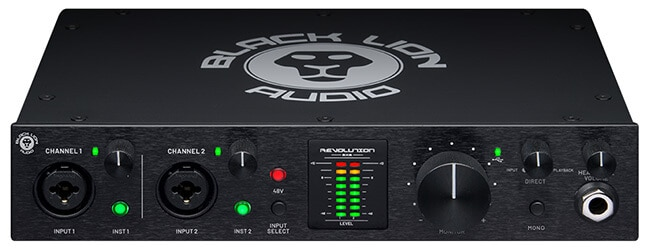 Black Lion Audio Revolution 2x2 (front panel)