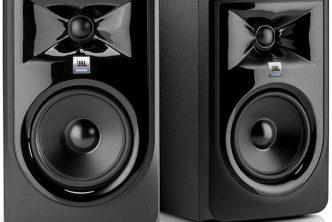 JBL 308P Mk2 powered two-way studio monitors (pair)